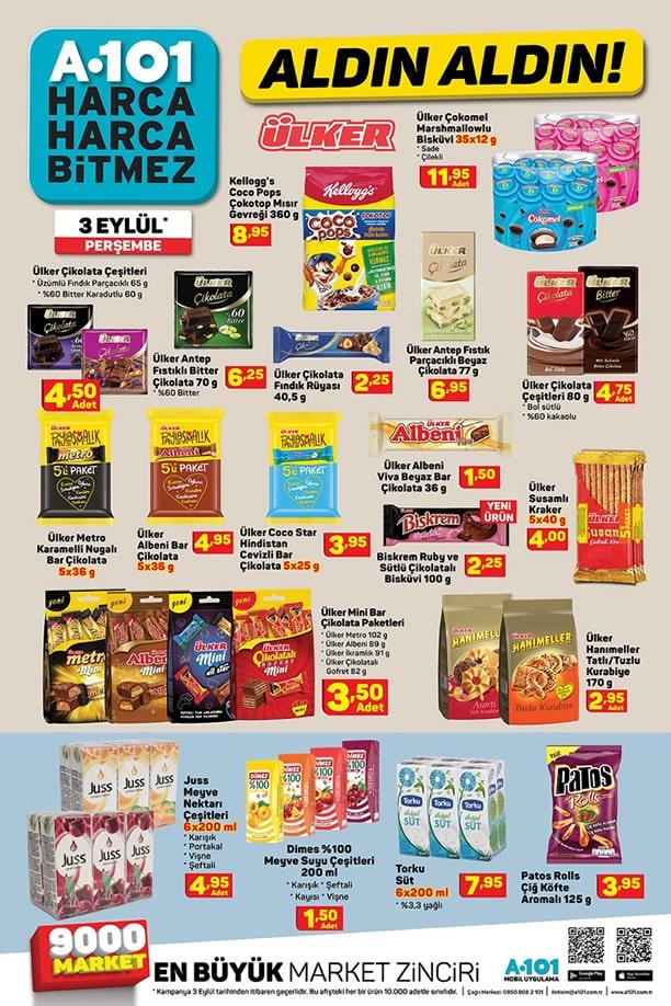 A101 3 Eylül 2020 İndirimli Ürünler Broşürü