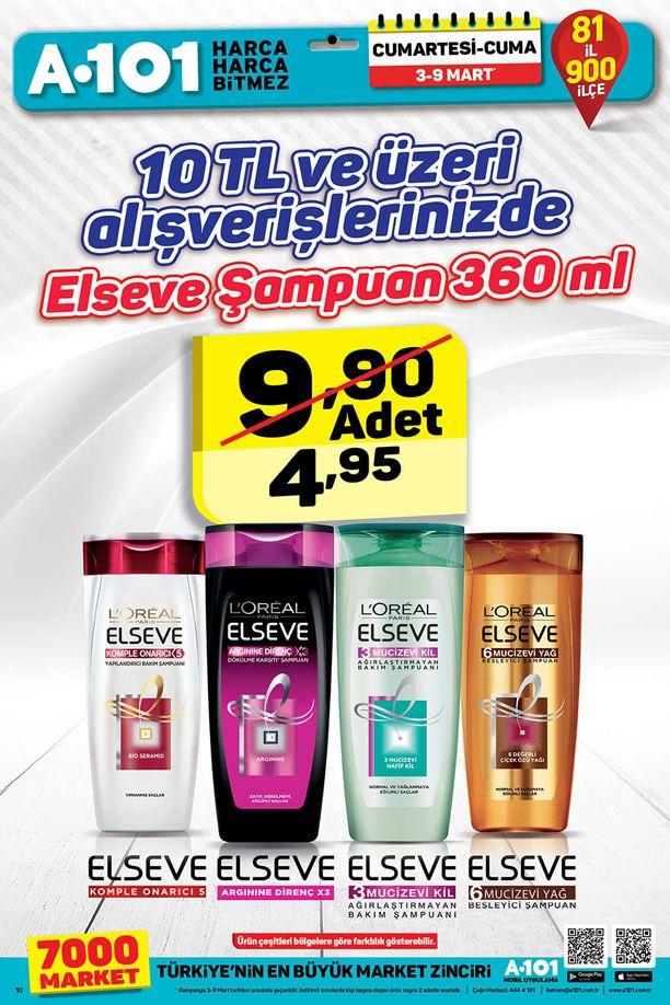 A101 3 Mart - 9 Mart 2018 İndirim Katalogu - Elseve Şampuan
