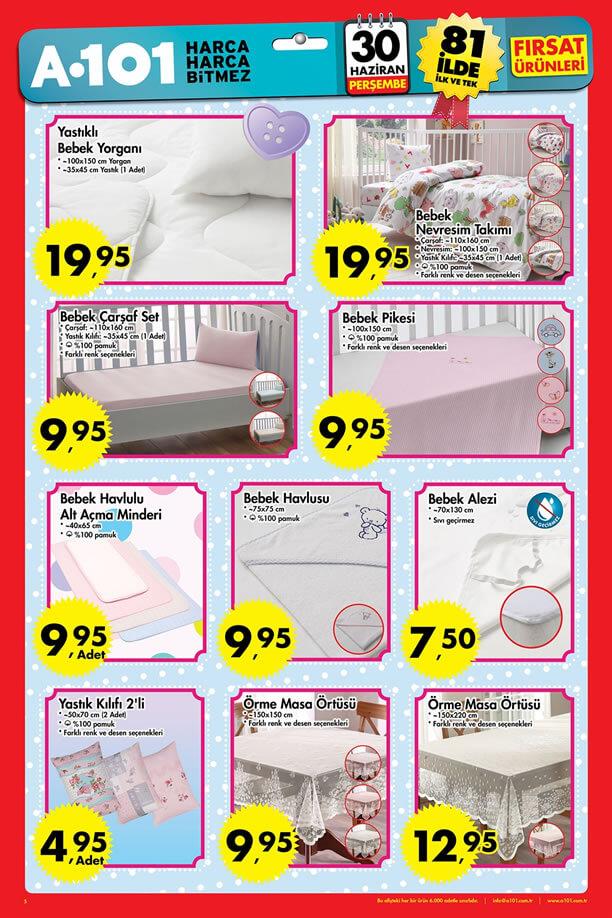 A101 30 Haziran - 6 Temmuz 2016 Katalogu - Bebek Ürünleri