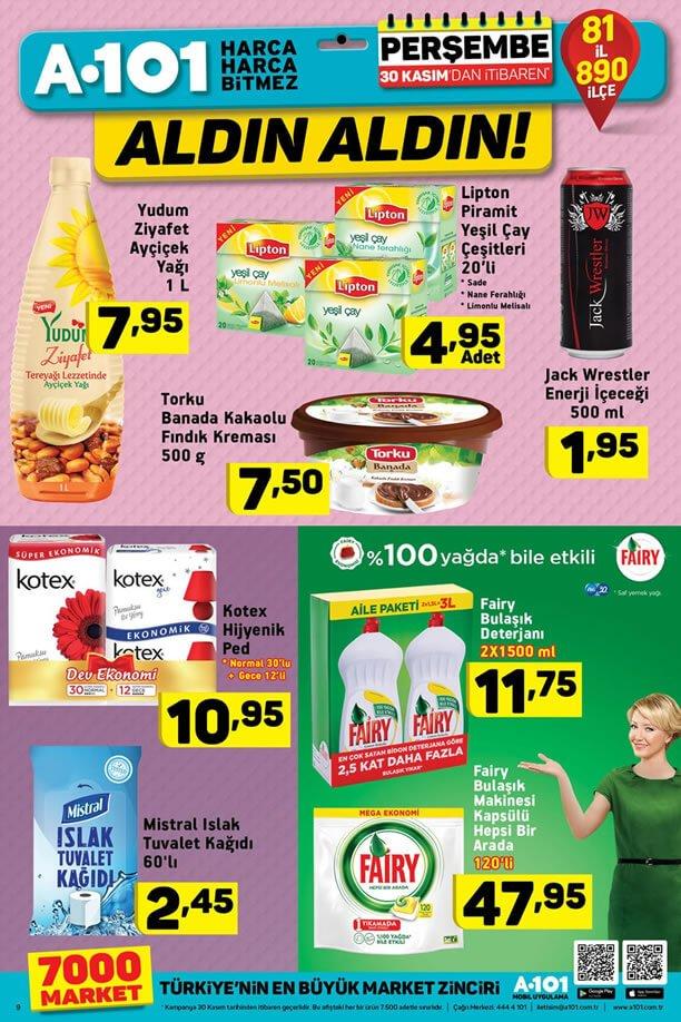 A101 30 Kasım 2017 Fırsat Ürünleri Kataloğu
