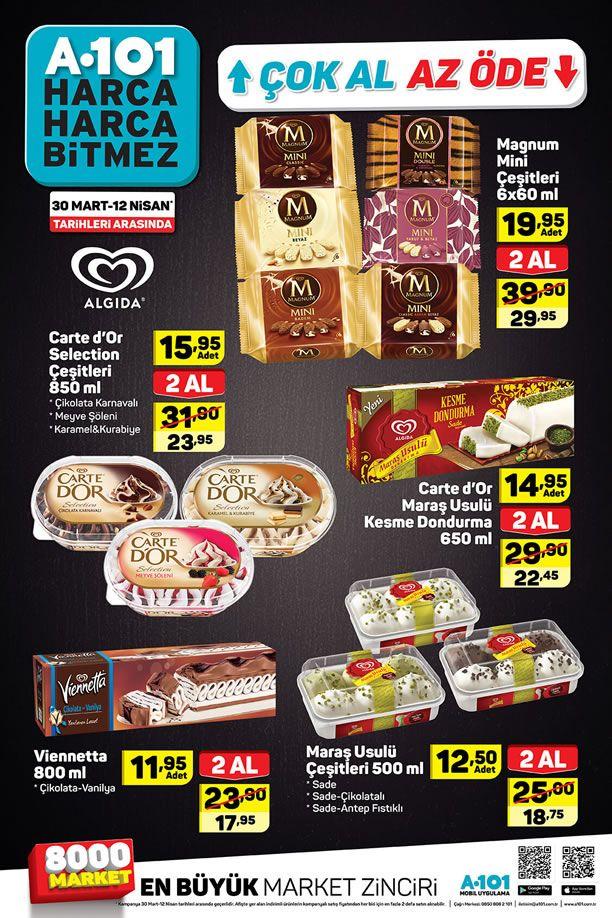 A101 30 Mart 12 Nisan 2019 Dondurma Fiyatları