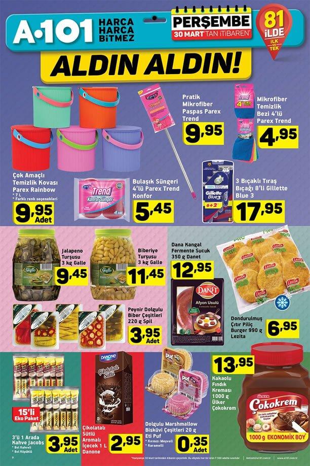 A101 30 Mart 2017 Aktüel Katalogu - Parex Temizlik Ürünleri