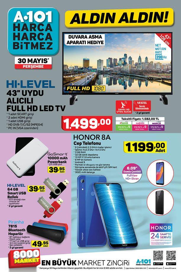 A101 30 Mayıs 2019 Kataloğu - Honor 8A Cep Telefonu