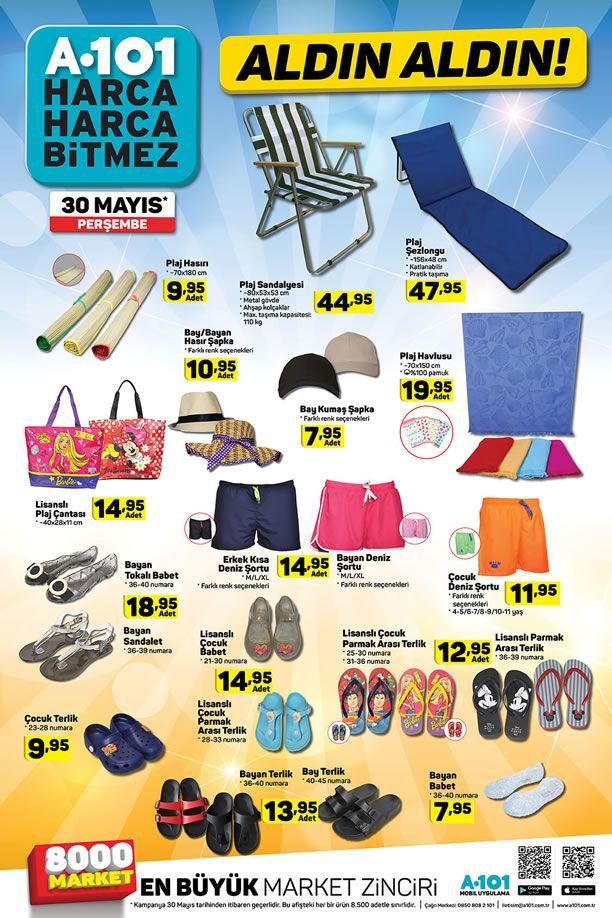 A101 30 Mayıs 2019 Perşembe Fırsatları - Plaj Sandalyesi