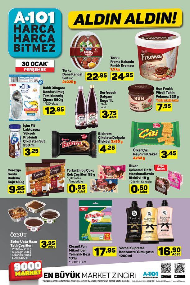 A101 30 Ocak 2020 İndirimli Ürünler Listesi