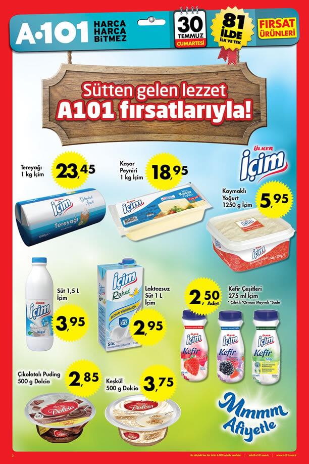 A101 30 Temmuz 2016 Aktüel Ürünler Katalogu - Ülker İçim