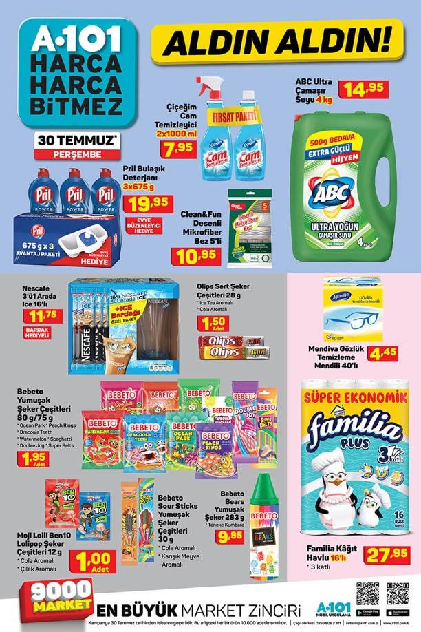 A101 30 Temmuz 2020 İndirimli Ürünler Broşürü