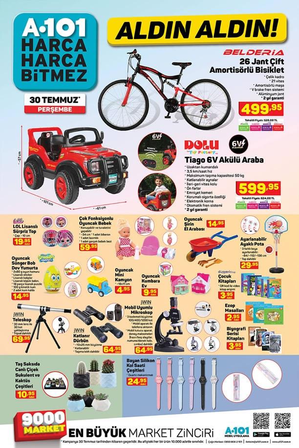 A101 30 Temmuz Broşürü - Belderia 26 Jant Çift Amortisörlü Bisiklet