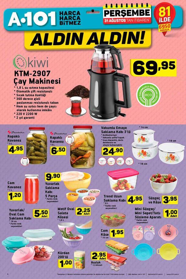 A101 31 Ağustos - Kiwi Çay Makinesi