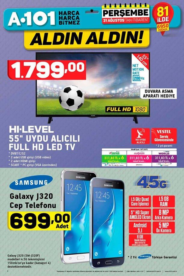 A101 31 Ağustos - Samsung Cep Telefonu