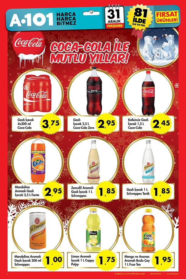 A101 31 Aralık 2015 - 6 Ocak 2016 Katalogu - Coca-Cola