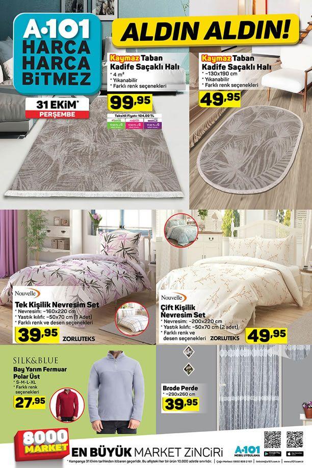A101 31 Ekim 2019 Güncel Kataloğu - Ev Tekstili