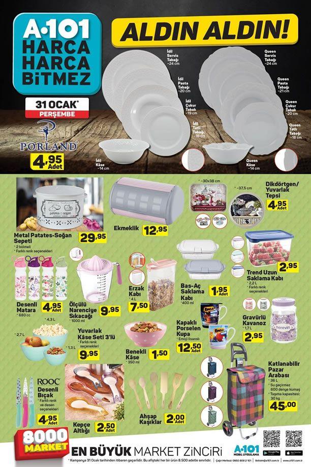A101 31 Ocak 2019 Fırsat Ürünleri - Metal Patates Soğan Sepeti