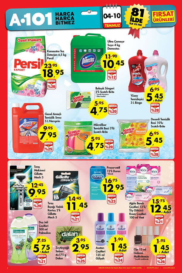 A101 4 - 10 Temmuz 2016 Fırsat Ürünleri Katalogu - Persil
