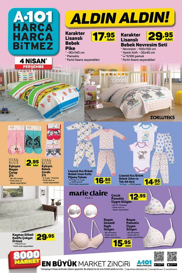 A101 4 Nisan 2019 Aldın Aldın Fırsatları - Bebek Nevresim Seti