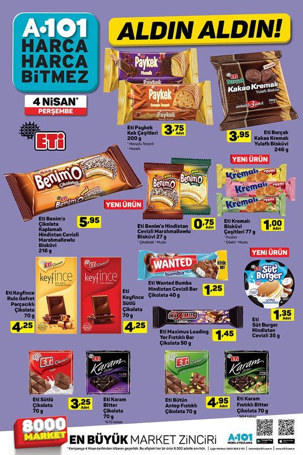 A101 4 Nisan 2019 Fırsat Ürünleri Kataloğu - Eti Ürünleri