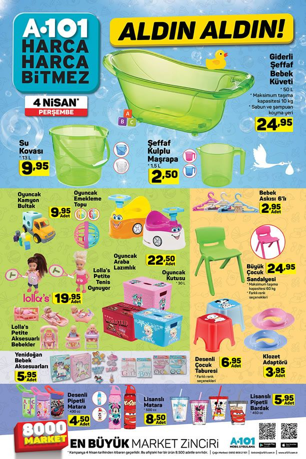 A101 4 Nisan 2019 Perşembe Kataloğu - Bebek Malzemeleri