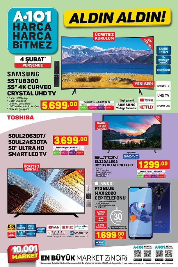 A101 4 Şubat 2021 - Reeder P13 Blue Max 2021 Cep Telefonu