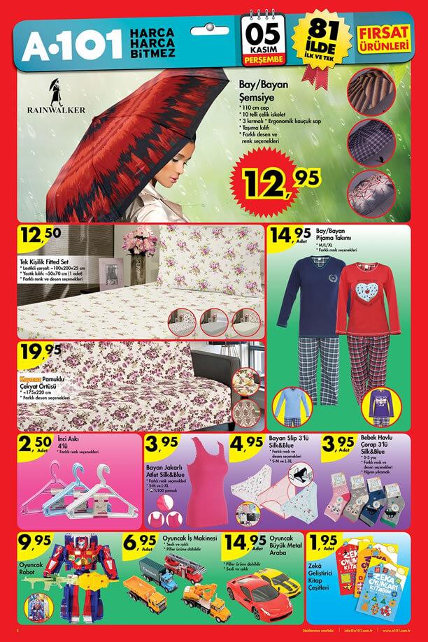 A101 5-11 Kasım 2015 İndirim Katalogu - Şemsiye