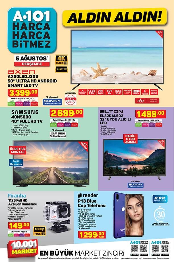 A101 5 Ağustos 2021 Aktüel Kataloğu - Samsung Full HD Tv