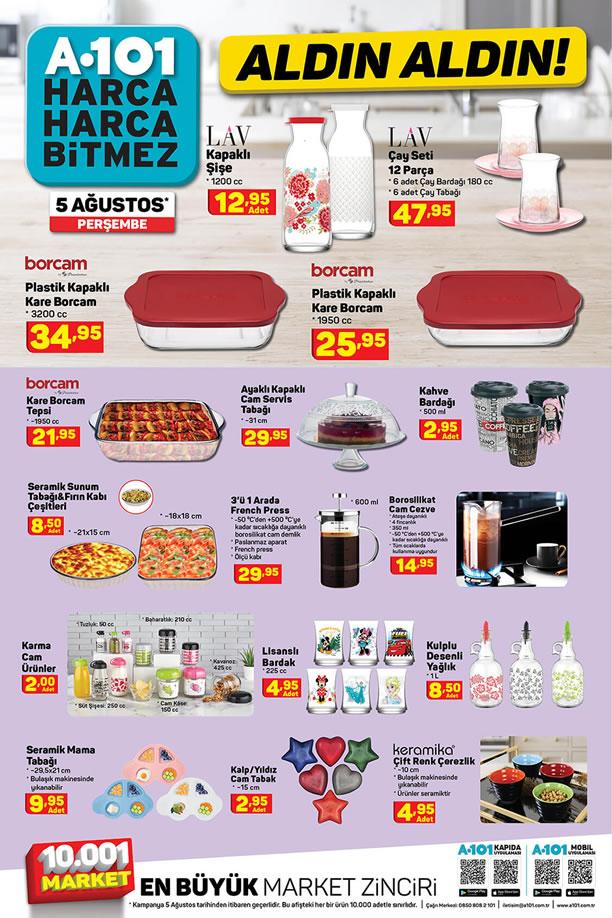 A101 5 Ağustos 2021 Mutfak Ürünleri Kataloğu