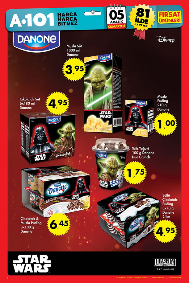A101 5 Aralık 2015 Aktüel Ürünler Katalogu - Danone