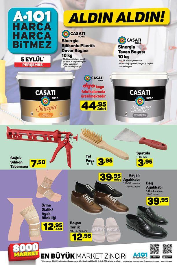 A101 5 Eylül 2019 Aktüel Ürünler Kataloğu - Casati Boya