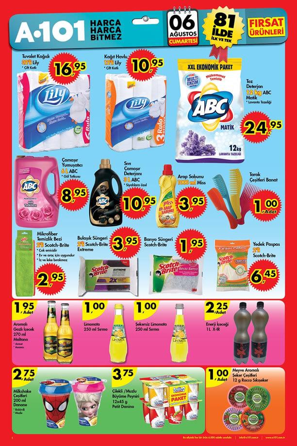 A101 6 Ağustos 2016 Aktüel Ürünler Katalogu