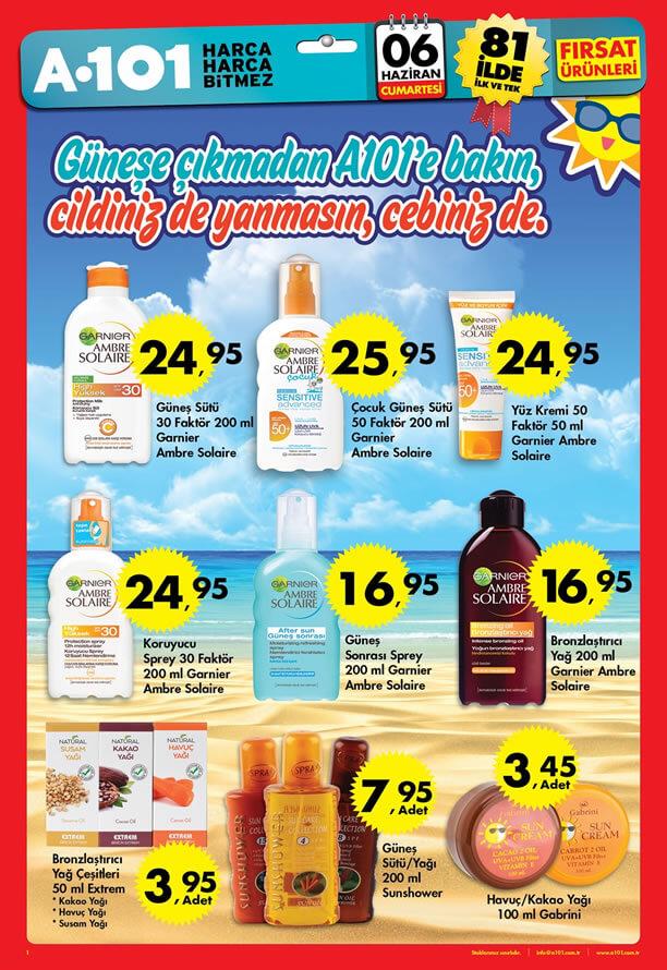 A101 6 Haziran 2015 Aktüel Ürünler Kataloğu - Güneş Kremi