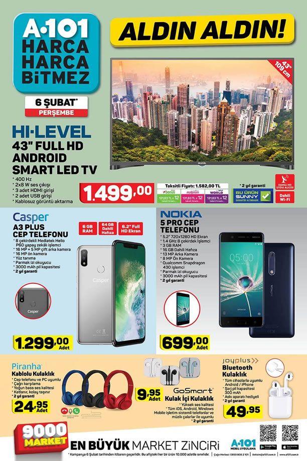 A101 6 Şubat 2020 Aktüel Kataloğu - Casper A3 Plus Cep Telefonu
