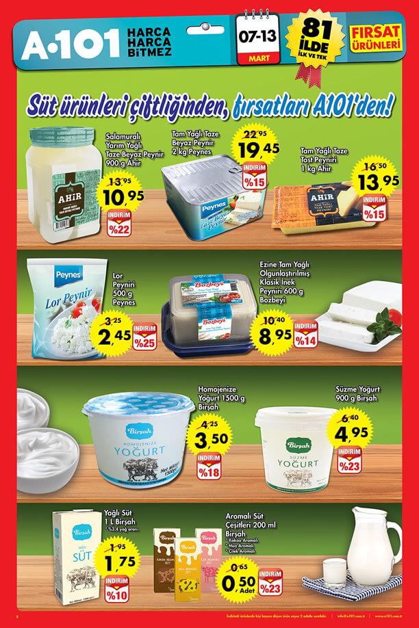 A101 7-13 Mart 2016 Aktüel Ürünler Katalogu - Süt Ürünleri