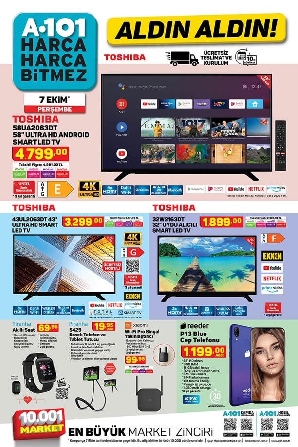 A101 7 Ekim 2021 Kataloğu - Toshiba Ultra HD Android Smart Led Tv