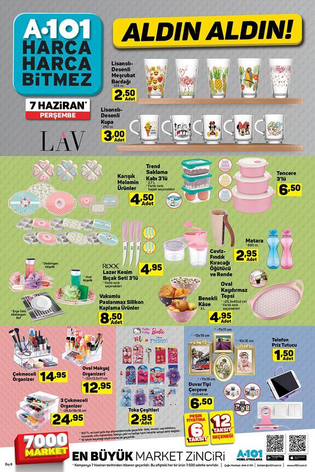 A101 7 Haziran 2018 Perşembe Katalogu - Mutfak Ürünleri