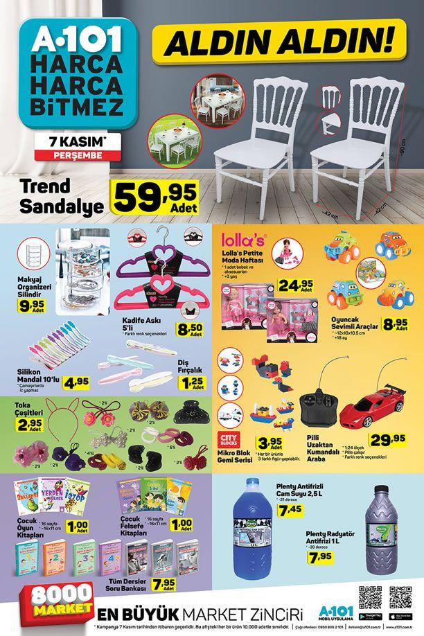 A101 7 Kasım 2019 Aldın Aldın Kataloğu - Trend Sandalye