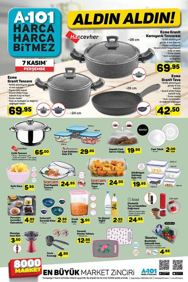 A101 7 Kasım 2019 Perşembe Kataloğu - Mutfak Ürünleri