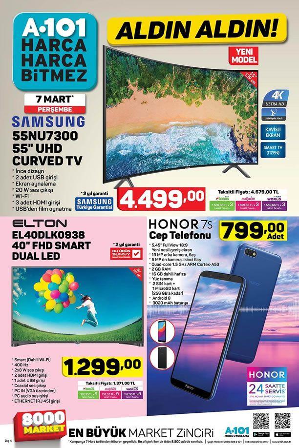 A101 7 Mart 2019 Aktüel Kataloğu - Honor 7s Cep Telefonu