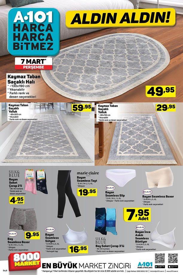 A101 7 Mart 2019 Aktüel Ürün Kataloğu - Tekstil Ürünleri