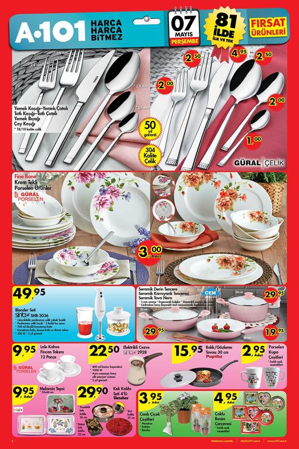 A101 7 Mayıs 2015 Aktüel Ürünler Katalogu - Mutfak Ürünleri