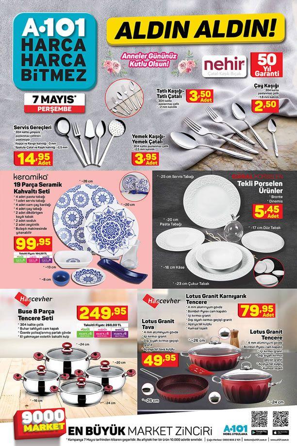 A101 7 Mayıs 2020 - Keramika 19 Parça Seramik Kahvaltı Seti