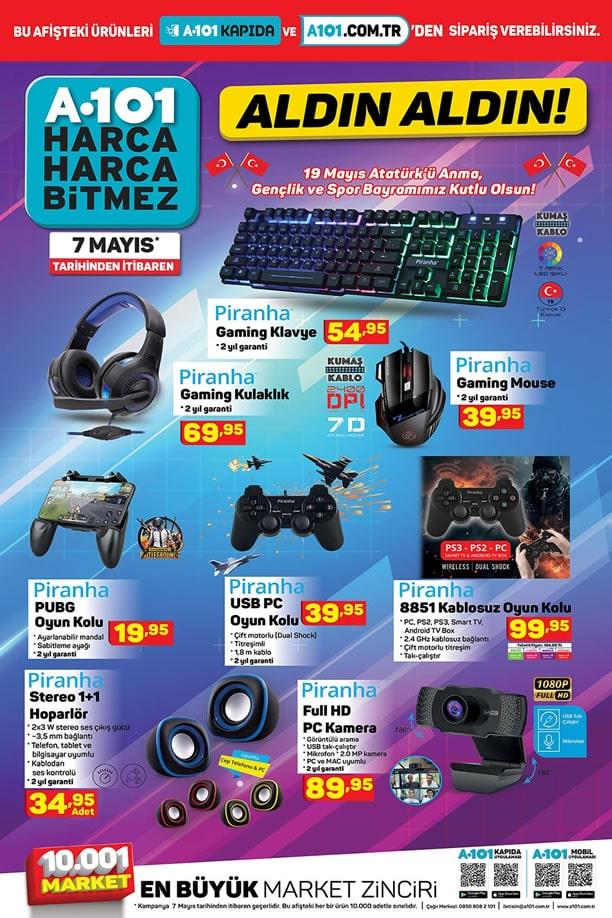 A101 7 Mayıs 2021 Piranha Gaming Ürünleri