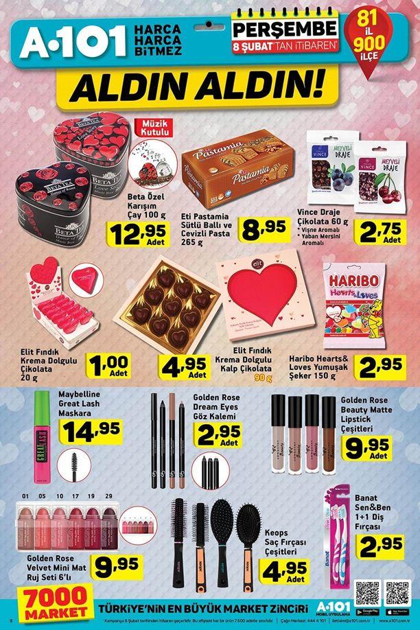 A101 8 - 14 Şubat 2018 İndirim Kataloğu - Sevgililer Günü Ürünleri