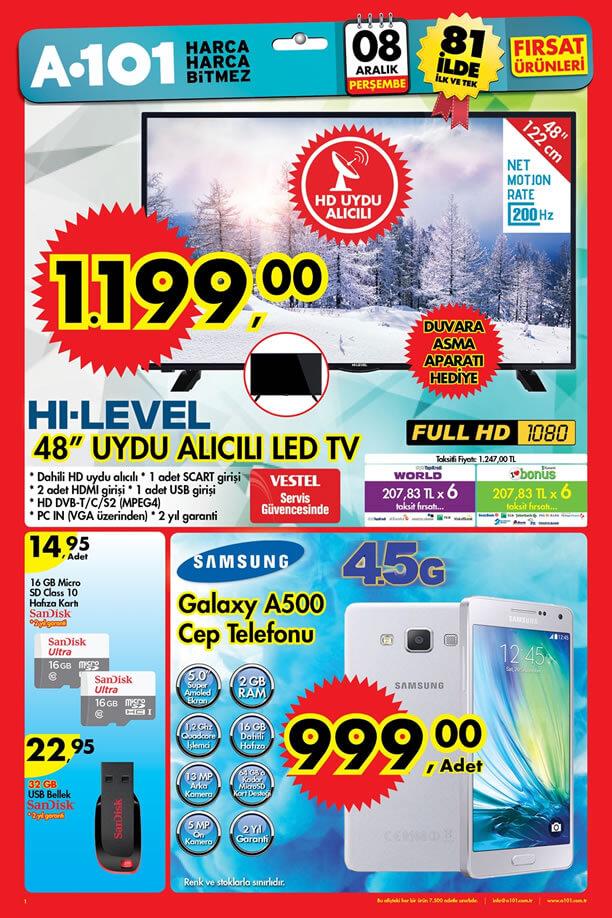 A101 8 Aralık 2016 Katalogu - Samsung Galaxy A500 Cep Telefonu