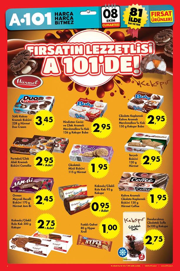 A101 8 Ekim 2016 Cumartesi Fırsatları Katalogu - Hürmet Çikolata