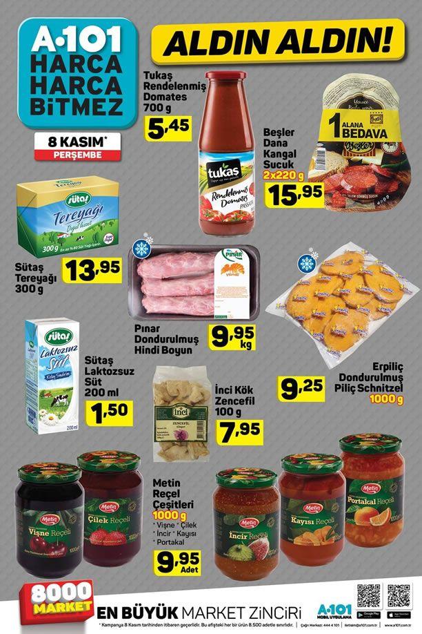 A101 8 Kasım 2018 Fırsat Ürünleri Kataloğu - Sütaş Tereyağı