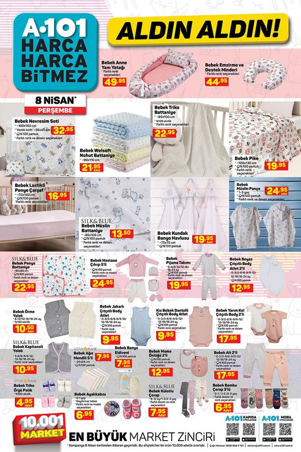 A101 8 Nisan 2021 Ladın Aldın - Bebek Tekstili