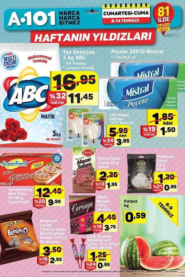 A101 8 Temmuz 2017 Haftanın Yıldızları - ABC Toz Deterjan