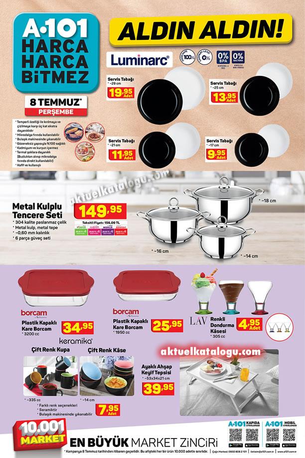 A101 8 Temmuz 2021 Aldın Aldın Kataloğu - Mutfak Ürünleri
