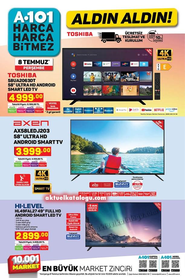 A101 8 Temmuz 2021 Kataloğu - Full HD Android Smart Led Tv