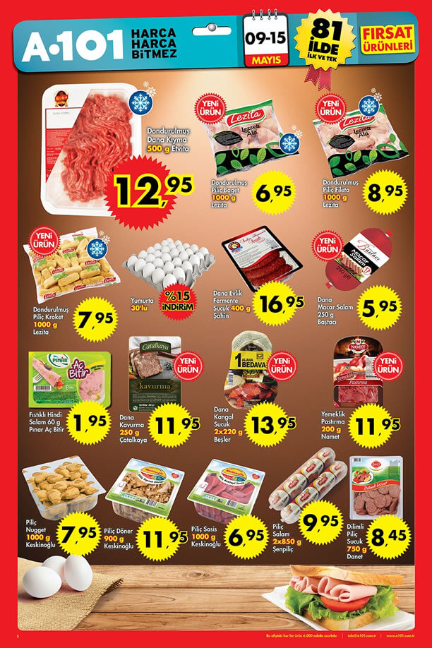 A101 9 - 15 Mayıs 2016 Fırsat Ürünleri Katalogu