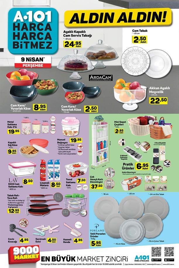 A101 9 - 15 Nisan 2020 Aktüel Kataloğu - Mutfak Malzemeleri